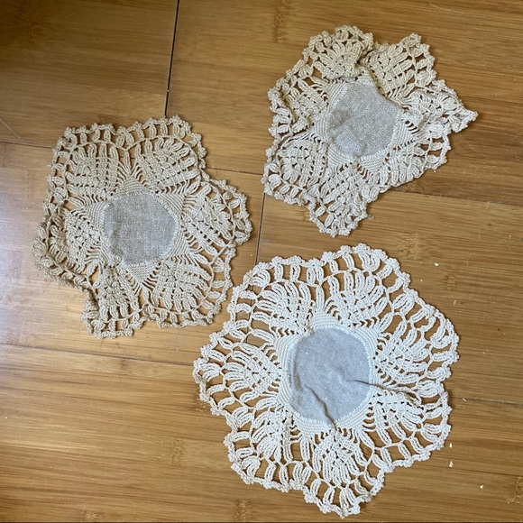 *Vintage Coasters in Linen and Cotton Circles